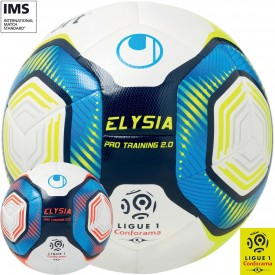 Lot de 12 ballons Elysia Pro Training 2.0 - Ligue 1 - Uhlsport 1001683012019_X12