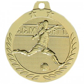 Médaille Football féminin Or 40 mm France Sport
